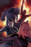 Ultimate Fantastic Four No.50 Cover: Invisible Woman, Mr. Fantastic, Thing and Human Torch Print