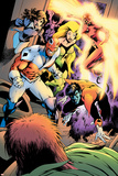 Clandestine No.2 Group: Nightcrawler, Captain Britain, Shadowcat, Meggan, Summers and Rachel Prints by Alan Davis