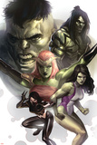 Hulk Family: Green Genes No.1 Cover: Hulk, She-Hulk, Skaar, Scorpion and Daughter Of Hulk Prints