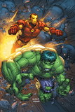 Marvel Team-Up No.4 Cover: Hulk and Iron Man Prints by Scott Kolins