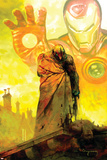 Moon Knight No.18 Cover: Moon Knight and Iron Man Prints