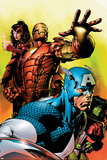 Avengers No.501 Cover: Captain America, Iron Man, Scarlet Witch, She-Hulk and Avengers Poster by David Finch