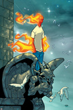Human Torch No.9 Cover: Human Torch Fighting Photo by Skottie Young