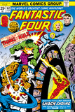 Fantastic Four N167 Cover: Hulk, Thing, Mr. Fantastic, Invisible Woman and Human Torch Fighting Prints by George Perez