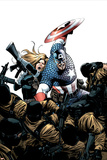 Captain America No.3 Cover: Captain America, Carter and Sharon Posters by Steve Epting