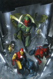Secret Invasion No.2 Cover: Vision, Iron Man, Spider-Man, Luke Cage and Beast Prints