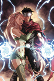 Dark Reign: Young Avengers No.4 Cover: Wiccan and Enchantress Prints by Mark Brooks