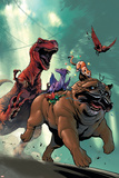 Lockjaw and the Pet Avengers No.2 Cover: Lockjaw, Lockheed and Devil Dinosaur Posters by Karl Kerschl
