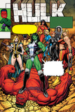 Hulk No.9 Cover: She-Hulk, Rulk, Valkyrie, Thundra and Black Widow Prints by Arthur Adams