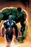 Ultimate Origins No.5 Cover: Captain America and Hulk Posters par Gabriele DellOtto