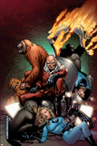 Fantastic Four: Foes No.5 Cover: Red Ghost, Thing, Mr. Fantastic, Invisible Woman and Human Torch Posters