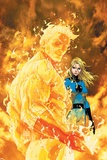 Fantastic Four No.547 Cover: Human Torch and Invisible Woman Pósters por Michael Turner