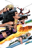 Ultimate Power No.9 Cover: Wasp, Human Torch and Power Princess Posters by Greg Land