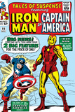 Don Heck - Tales Of Suspense No.59 Cover: Iron Man and Captain America Charging Obrazy