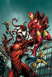 The Mighty Avengers 8 Cover: Iron Man and Sentry Posters by Mark Bagley
