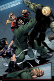 Young Avengers No.8 Group: Mr. Hyde, Bishop, Kate, Hulkling and Young Avengers Poster par Andrea Di Vito