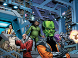 Fall of the Hulks: Alpha No.1 Group: Egghead, Red Ghost, Mad Thinker and Leader Photo by Paul Pelletier