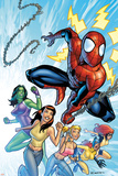 King-Size Spider-Man Summer Special No.1 Cover: Spider-Man, Mary Jane Watson and She-Hulk Prints by Salvador Espin
