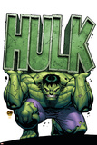 David Nakayama - Marvel Adventures Hulk No.4 Cover: Hulk Plakát