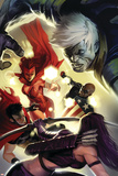 The Mighty Avengers No.28 Cover: Scarlet Witch, Wiccan and Patriot Posters
