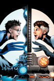 Ultimate Fantastic Four No.21 Cover: Mr. Fantastic Charging Poster by Greg Land