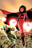 The Mighty Avengers No.24 Cover: Scarlet Witch and Quicksilver Print by Khoi Pham