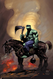 Incredible Hulk 81 Cover: Hulk Riding Prints by Lee Weeks