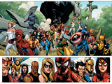 Secret Invasion No.1 Group: Captain America, Spider-Man and Vision Affischer av Leinil Francis Yu