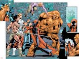 Alpha Flight No.7 Group: Sasquatch, Alpha Flight, Nemesis and Yukon Jack Crouching Posters by Dave Ross