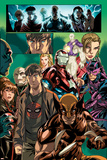 Dark Reign: Young Avengers No.4 Group: Wolverine, Iron Patriot and Hawkeye Prints by Mark Brooks