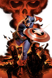 Captain America No.1 Cover: Captain America, Nick Fury and Black Widow Prints by Steve Epting
