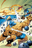 Marvel Adventures Fantastic Four No.31 Cover: Thing and Invisible Woman Posters by Kirk Leonard