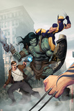Incredible Hulk No.603 Cover: Skaar, Wolverine, Banner and Bruce Prints by Ariel Olivetti