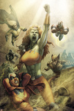 All New Savage She-Hulk No.4 Cover: Lyra, Sentry, Wolverine, Iron Patriot and Ms. Marvel Plakaty