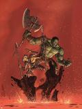 Incredible Hulk No.93 Cover: Hulk and Miek Print by Brandon Peterson