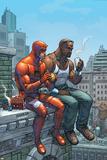 Scott Kolins - Marvel Team-Up No.9 Cover: Daredevil, Cage and Luke Plakát