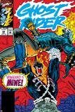 Ghost Rider No.39 Cover: Ghost Rider and Vengeance Fighting Prints by Ron Garney