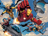 The Mighty Avengers No.8 Group: Iron Man, Ms. Marvel, Sentry and Wonder Man Print by Mark Bagley