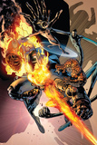 Fantastic Four No.557 Cover: Thing, Human Torch, Mr. Fantastic and Invisible Woman Prints by Bryan Hitch