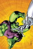 Marvel Adventures Hulk No.7 Cover: Hulk and Silver Surfer Posters by Juan Santacruz