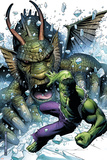 Hulk Vs. Fin Fang Foom No.1 Cover: Hulk and Fin Fang Foom Print by Jim Cheung