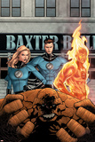 Marvel Knights 4 No.11 Cover: Mr. Fantastic, Invisible Woman, Human Torch, Thing and Fantastic Four Posters by Steve MCNiven
