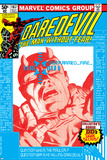 Daredevil No.167 Cover: Daredevil and Mauler Posters van Frank Miller