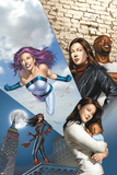 The Pulse No.14 Cover: Knightress, Jones, Jessica, Cage, Luke and Jewel Prints by Mike Mayhew