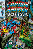 Captain America & The Falcon No.13 Cover: Captain America, Falcon and Spider-Man Posters by John Romita Sr.