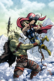Marvel Adventures Super Heroes No.11 Cover: Thor Poster by Tom Grummett