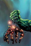 Incredible Hulk No.73 Cover: Hulk and Iron Man Posters af Mike Deodato