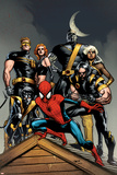 Ultimate Spider-Man No.120 Cover: Spider-Man, Wolverine, Nightcrawler, Cyclops, Phoenix & Colossus Prints by Stuart Immonen