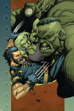 Ultimate Wolverine vs. Hulk No.4 Cover: Wolverine, Hulk and She-Hulk Posters by Leinil Francis Yu