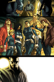 Dark Reign: New Nation No.1 Group: Quake, Phobos, Druid, Yo Yo, Hellfire and Stonewall Posters by Carlo Pagulayan
